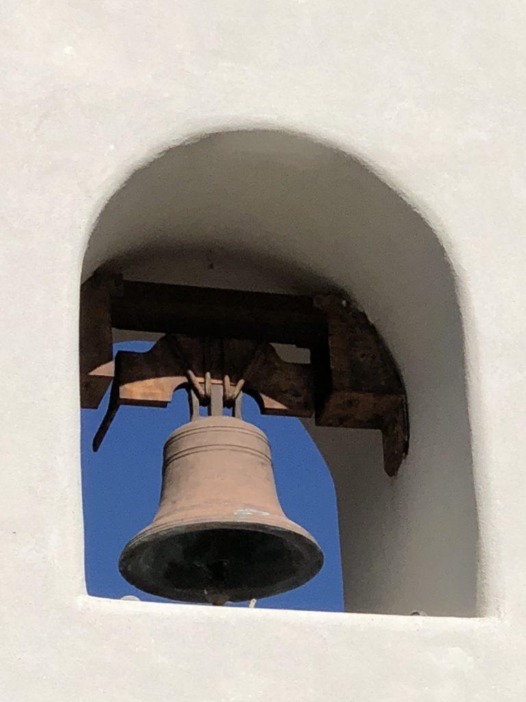 closeup of chapel bell