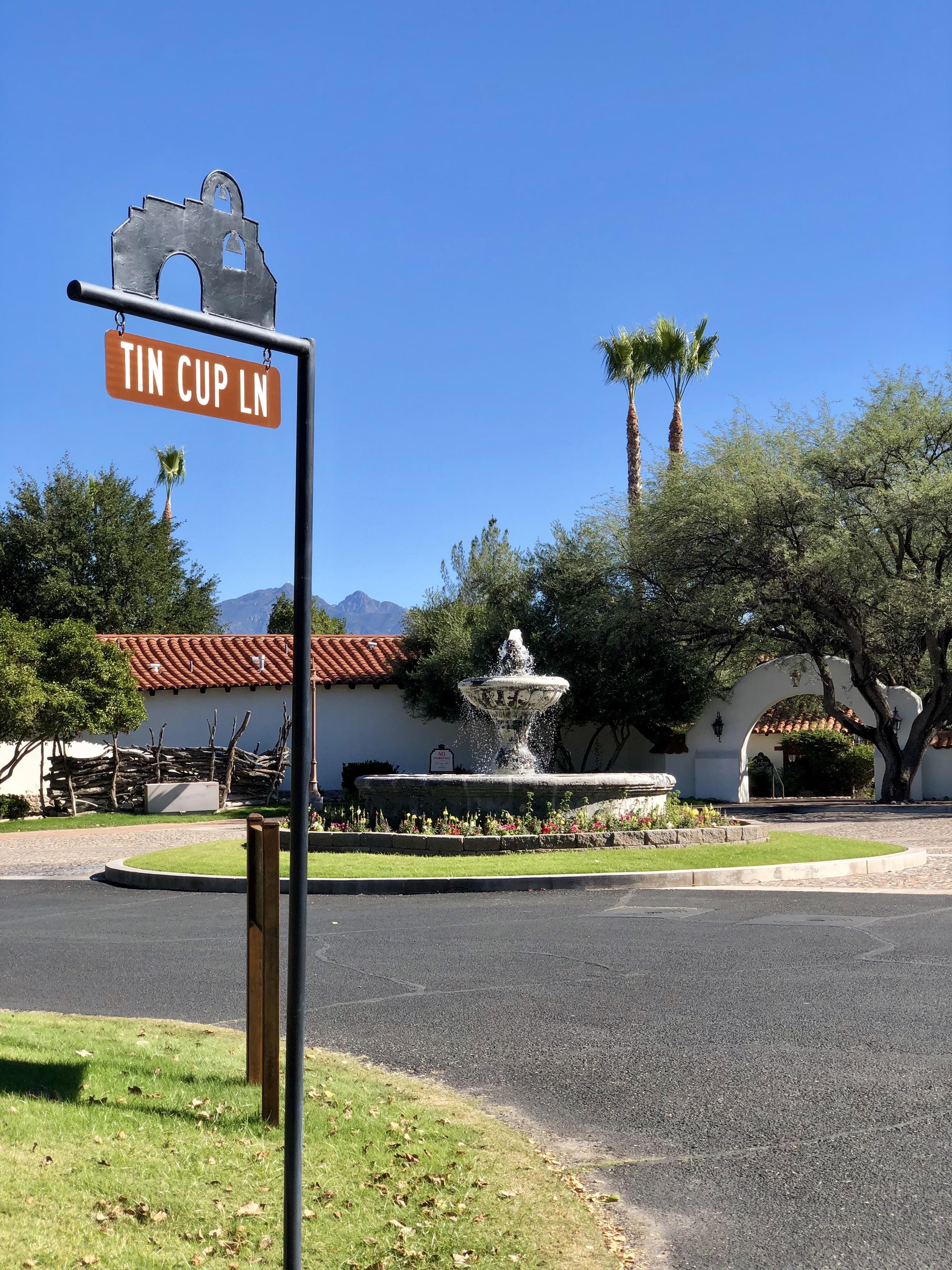 Tin Cup Lane Road Sign
