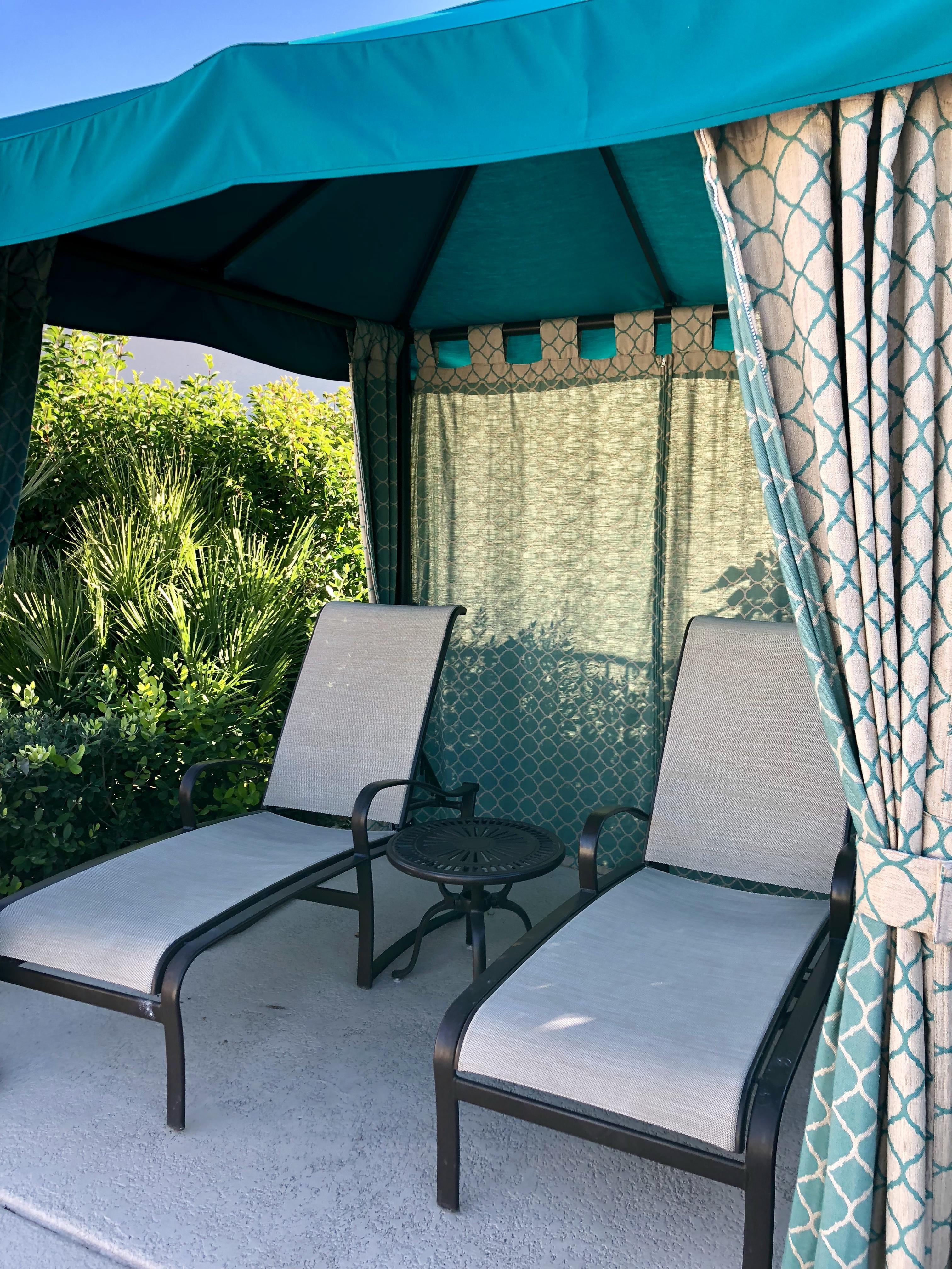 shade cabanas free of charge