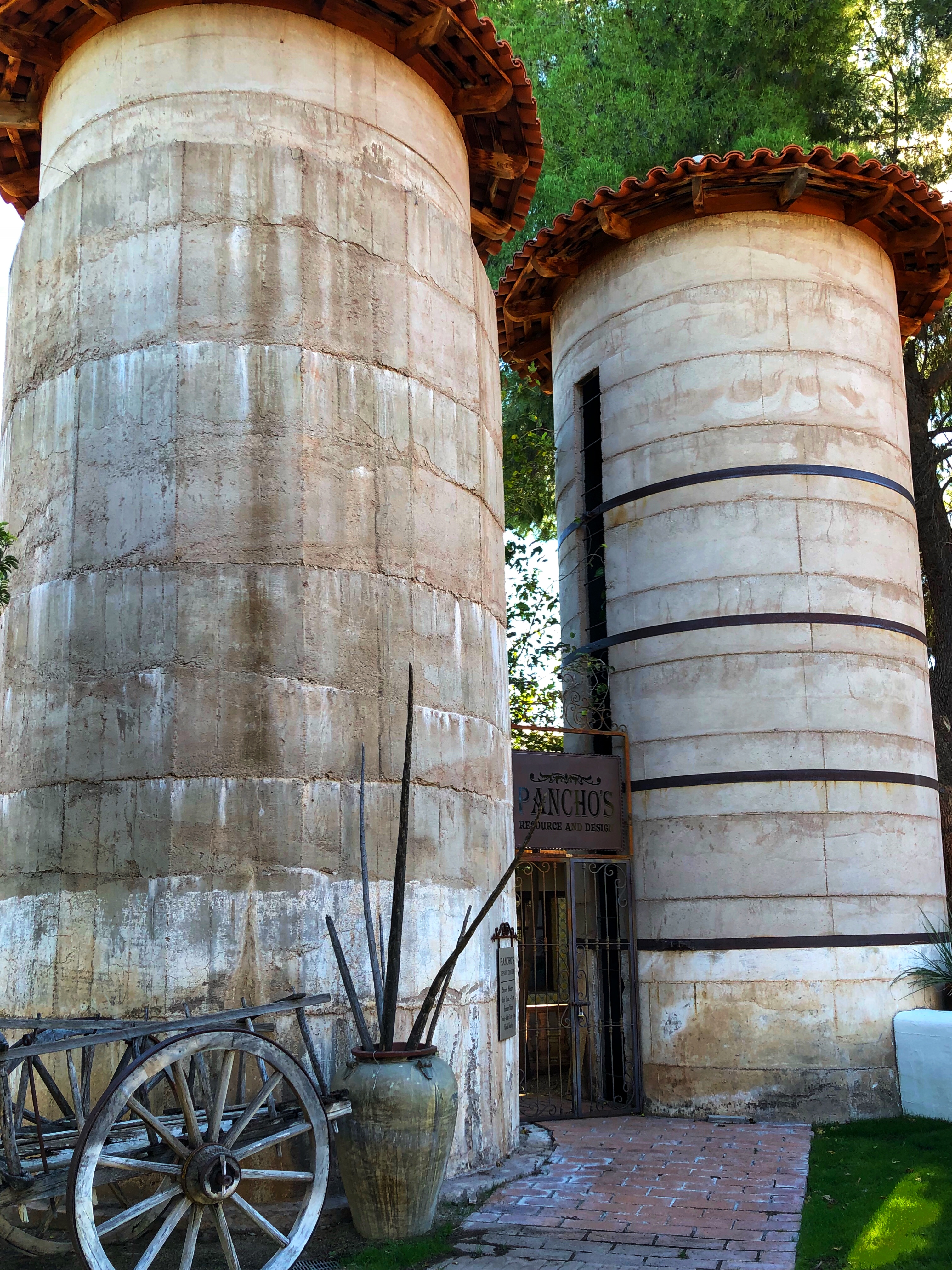 Two authentic silos