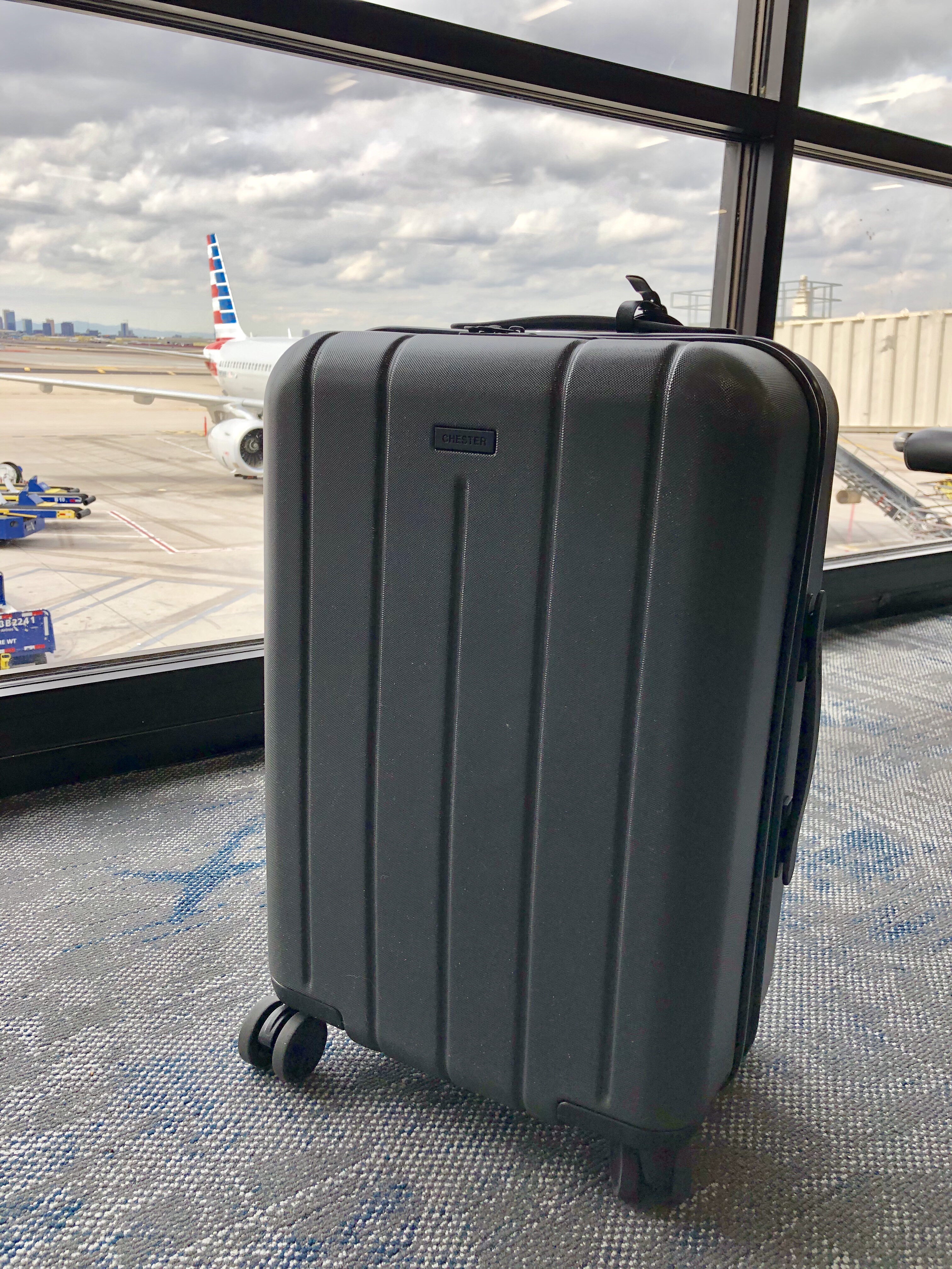 carry-on Suitcase at the airport